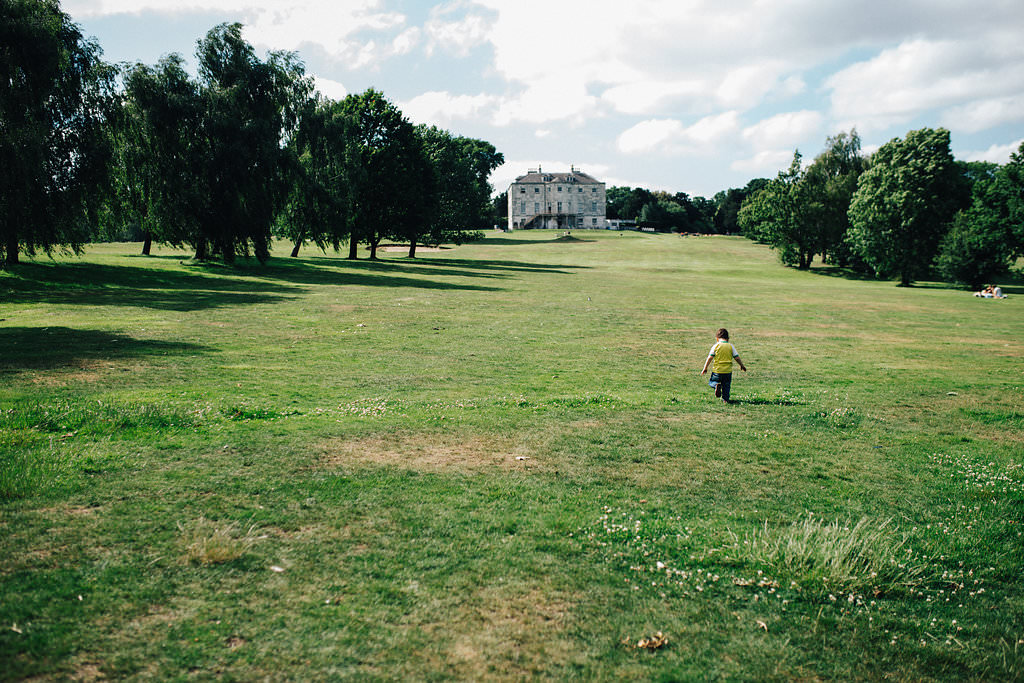 Boy walking in Beckenham Park Place