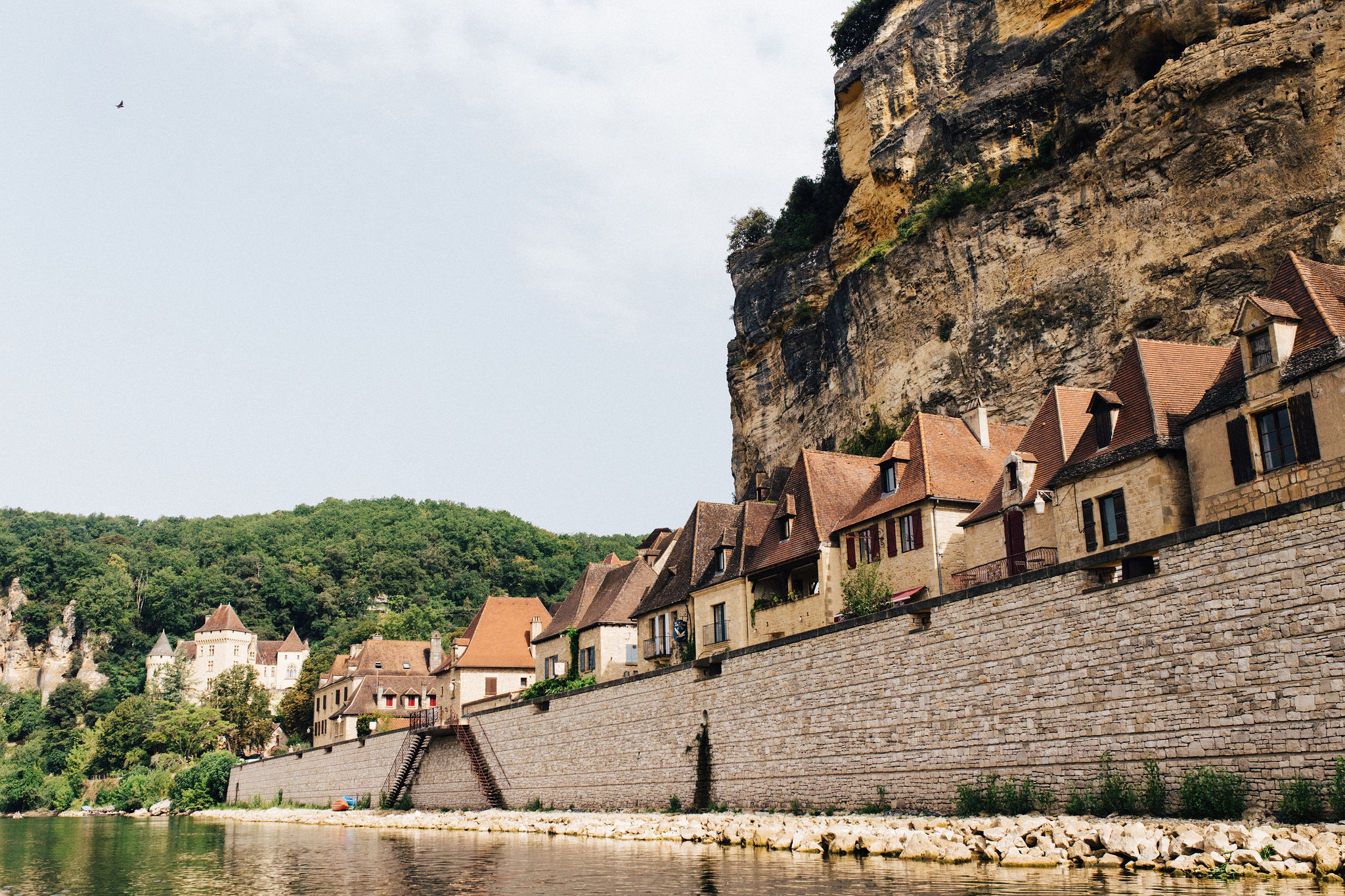 Village of La Roque Gageac from the Dordogne river