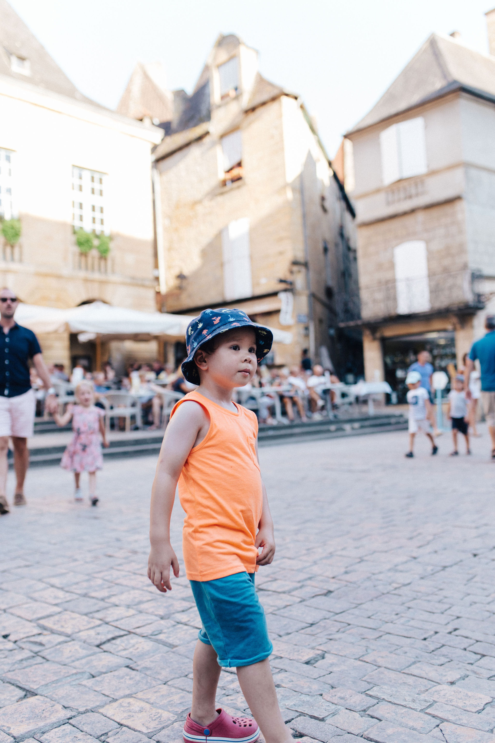 Boy in main square of Sarlat