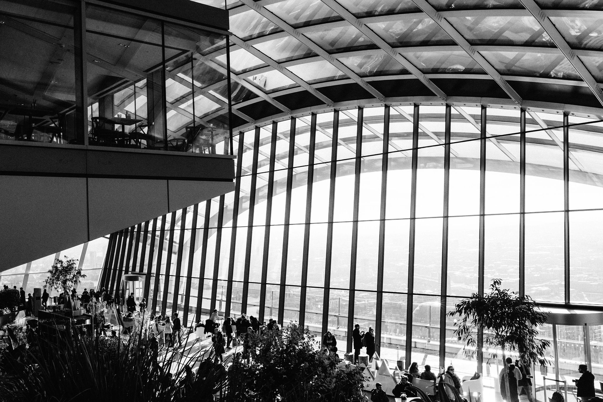 Glass dome of Skygarden, London