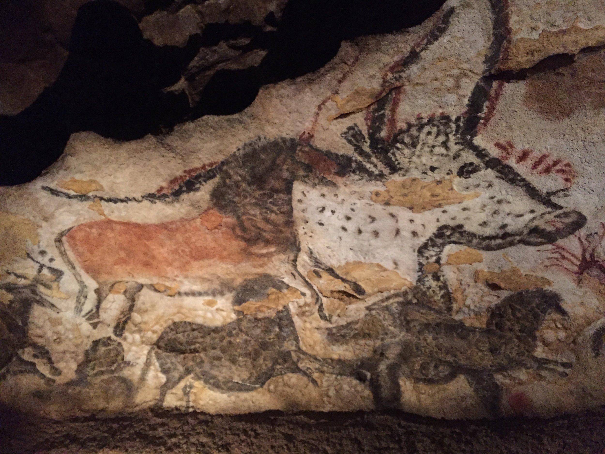 Details of Lascaux II caves
