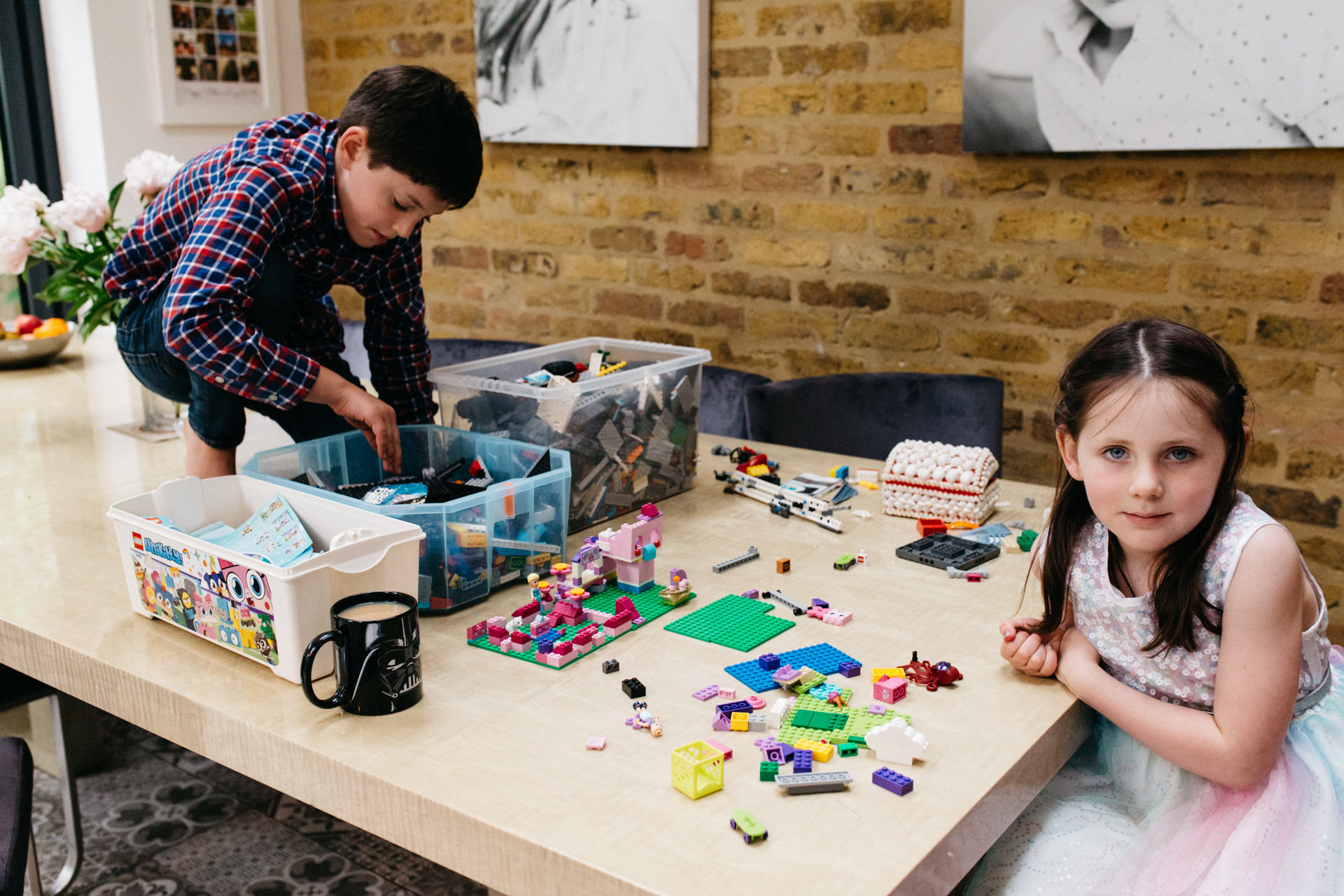 Family photography in London | A family photoshoot with children playing lego