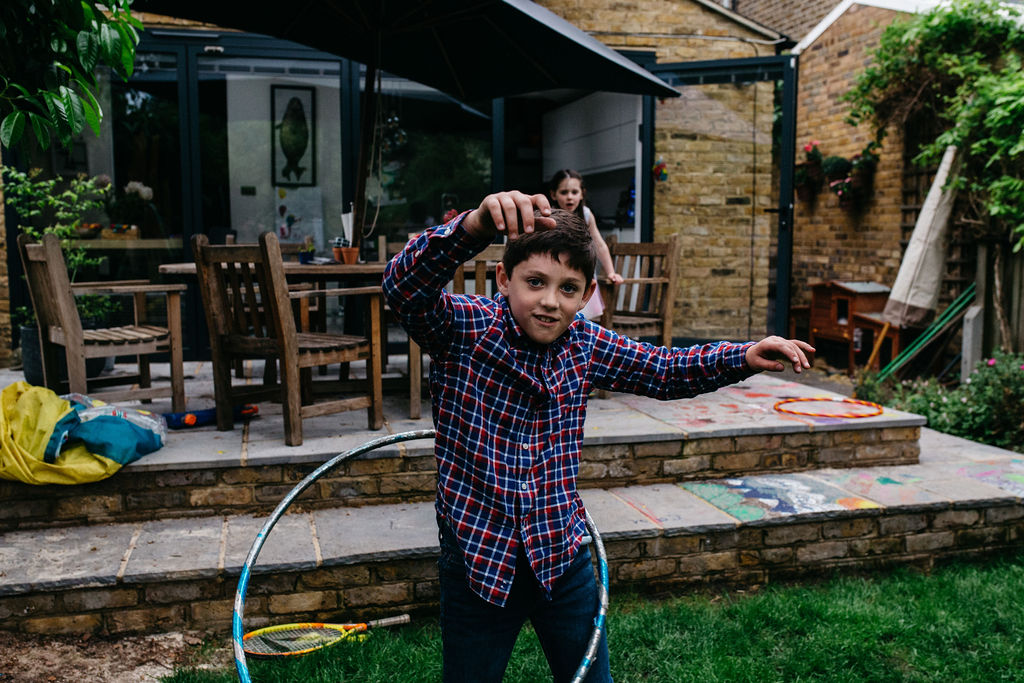 London family photographer | Photo session with son playing in Beckenham, near London