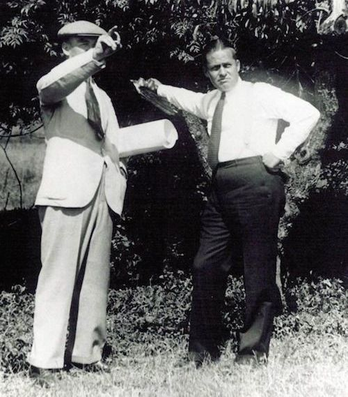 MacKenzie (left) and Jones (right) surveying the Augusta property
