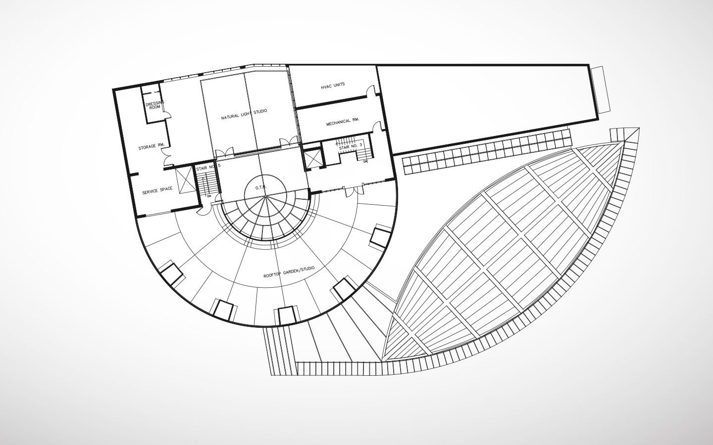 Photographic Arts Center - Third Floor Floor Plan, by Sanjiv Sirpal