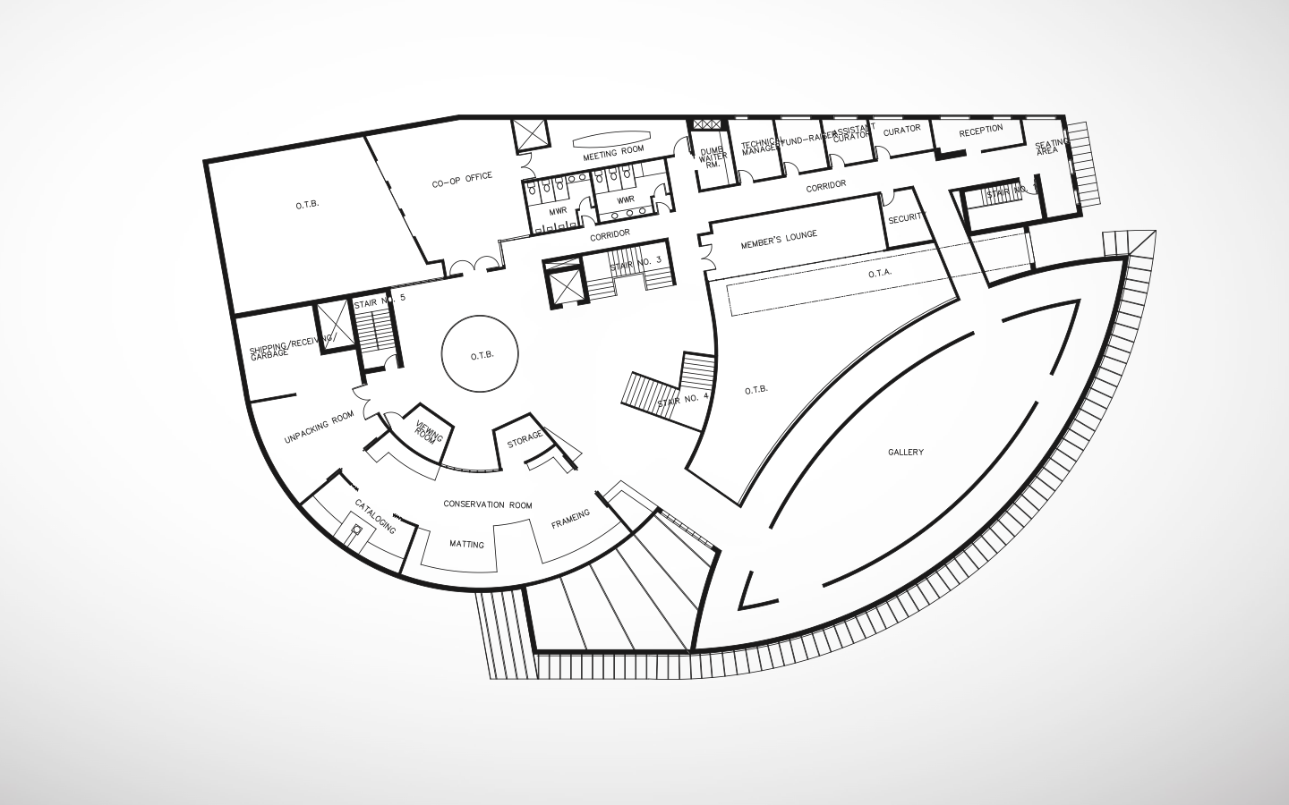 Photographic Arts Center - Second Floor   Floor Plan, by Sanjiv Sirpal
