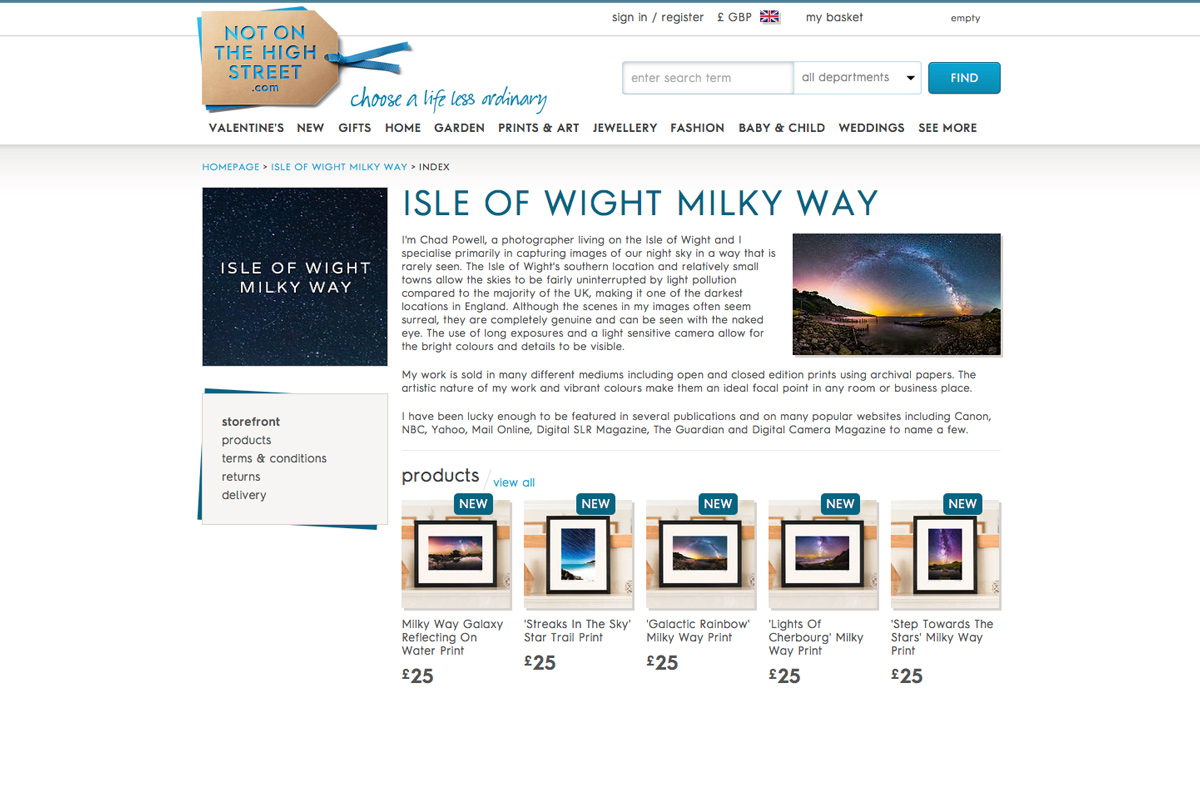 Not On The High Street Photography | Isle of Wight Milky Way and Landscape Photography
