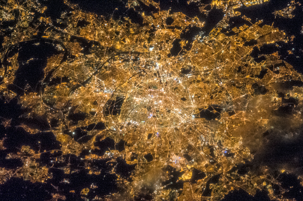 light pollution from space