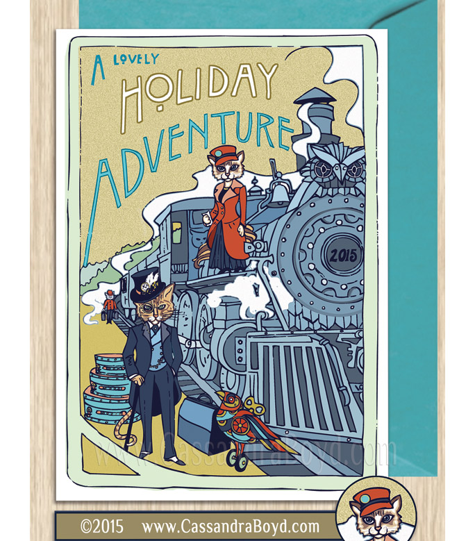 Holiday Adventure Greeting Card