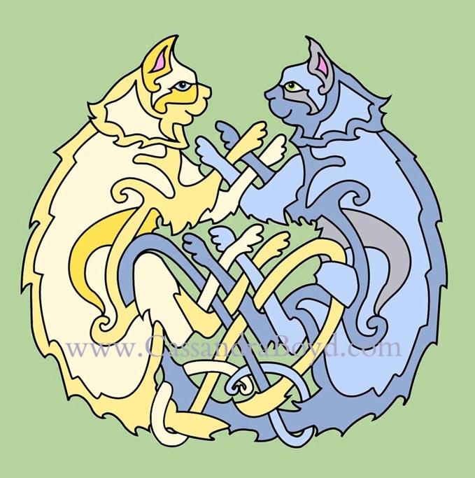 Celtic Cats Stationary