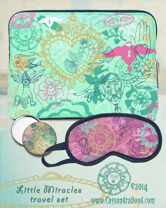 Zip Pouch, Mirror & Sleep Mask