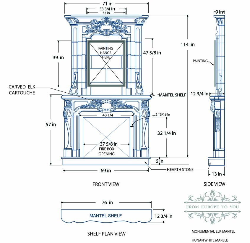 Marble Mantel Design Drafting