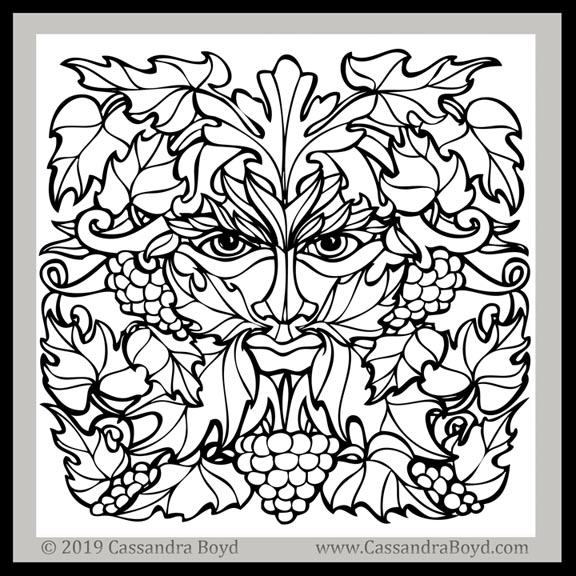 Green Man Coloring Page