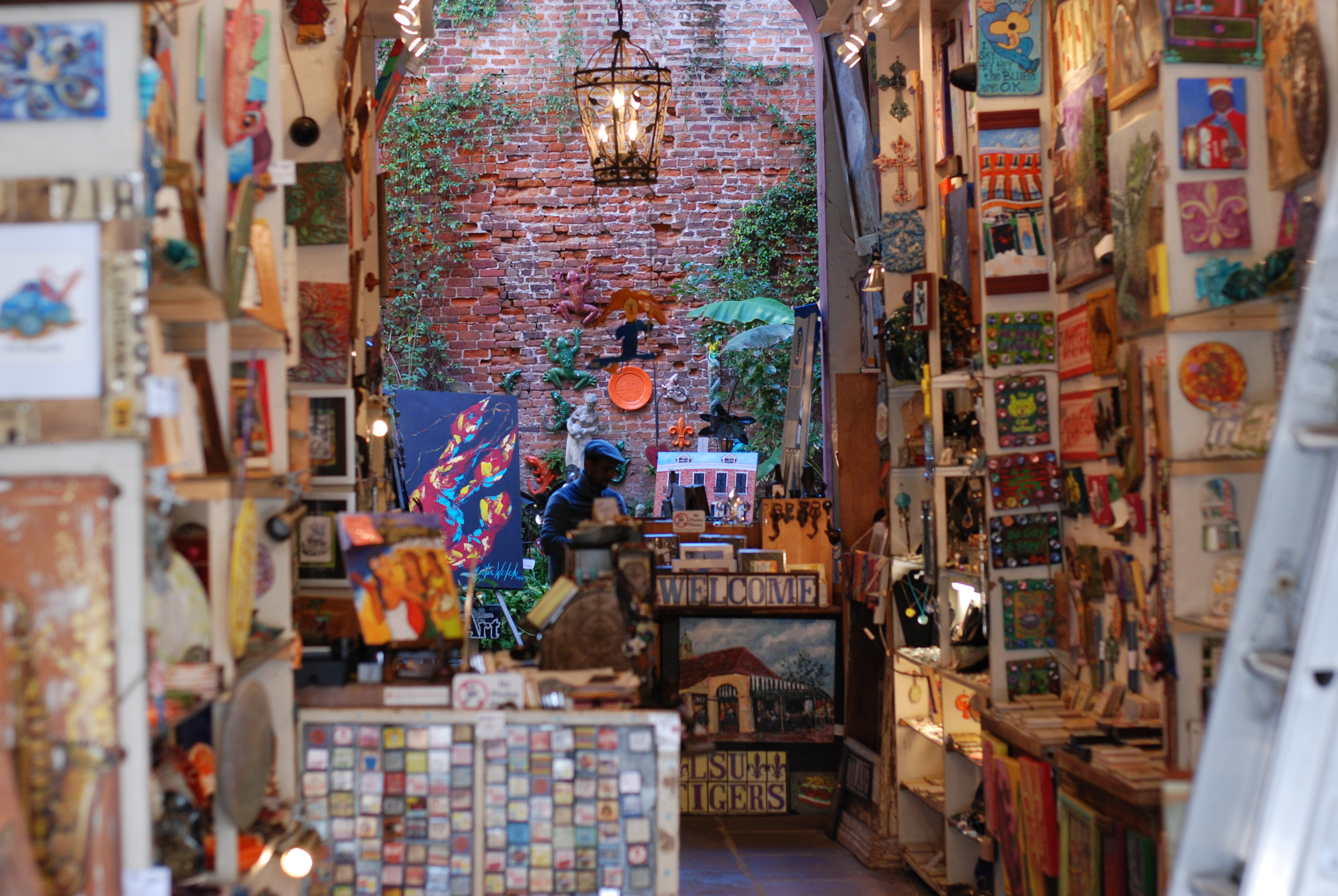 One of the many beautiful art galleries along Royal Street