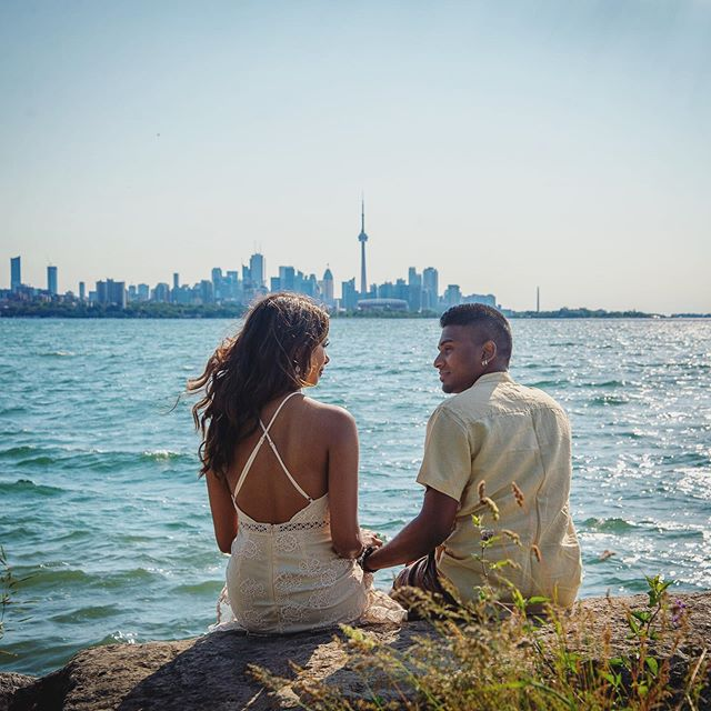 Lisa & Pasindu got engaged in Hawaii 🌴and had their engagement session at Humber Bay Park 🌳#couple #engaged #hawaii #toronto #humberbay #humberbaypark #skyline #cntower #lake #lakeontario #ontario #city #to #engagement #park #love #life #igers #igerstoronto #photo #summer #summerlovin #photoshoot #photography #photographer