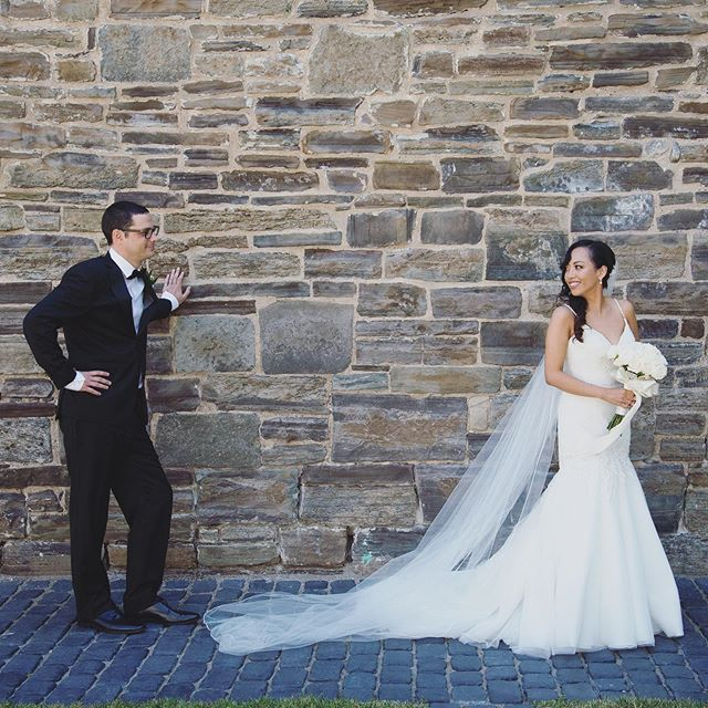 Hey there! 🖤✨ #bride #groom #look #love #wedding #ido #weddingdress #style #dress #outdoors #brick #married #love #photo #photography #weddingphotography #igers #art #pama #photographer
