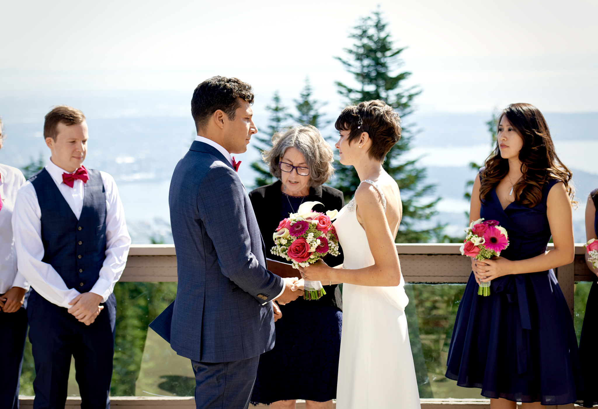 Grouse Mountain wedding photo