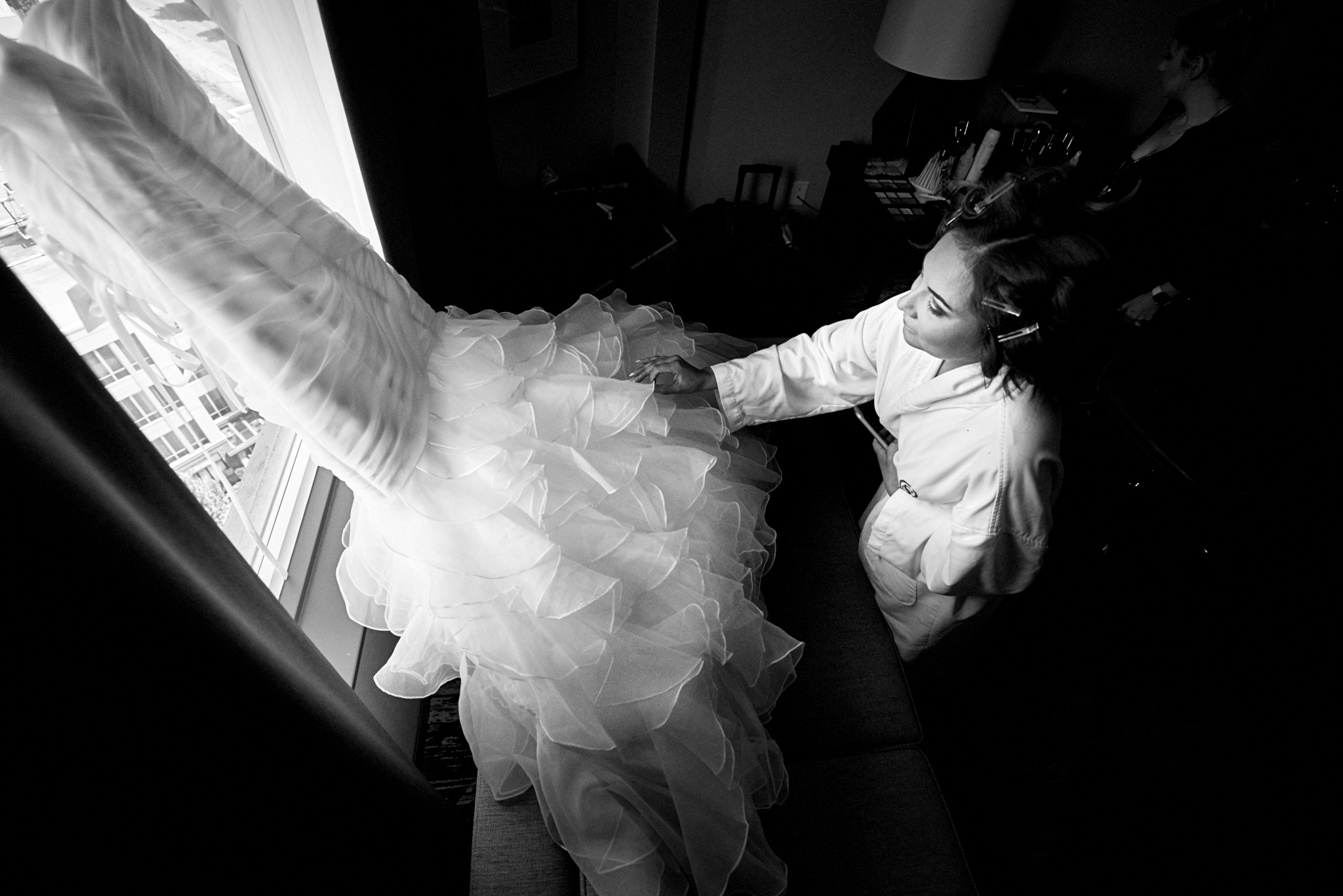 Wedding dress captured by Robert Demeter photography, Vancouver wedding photographers
