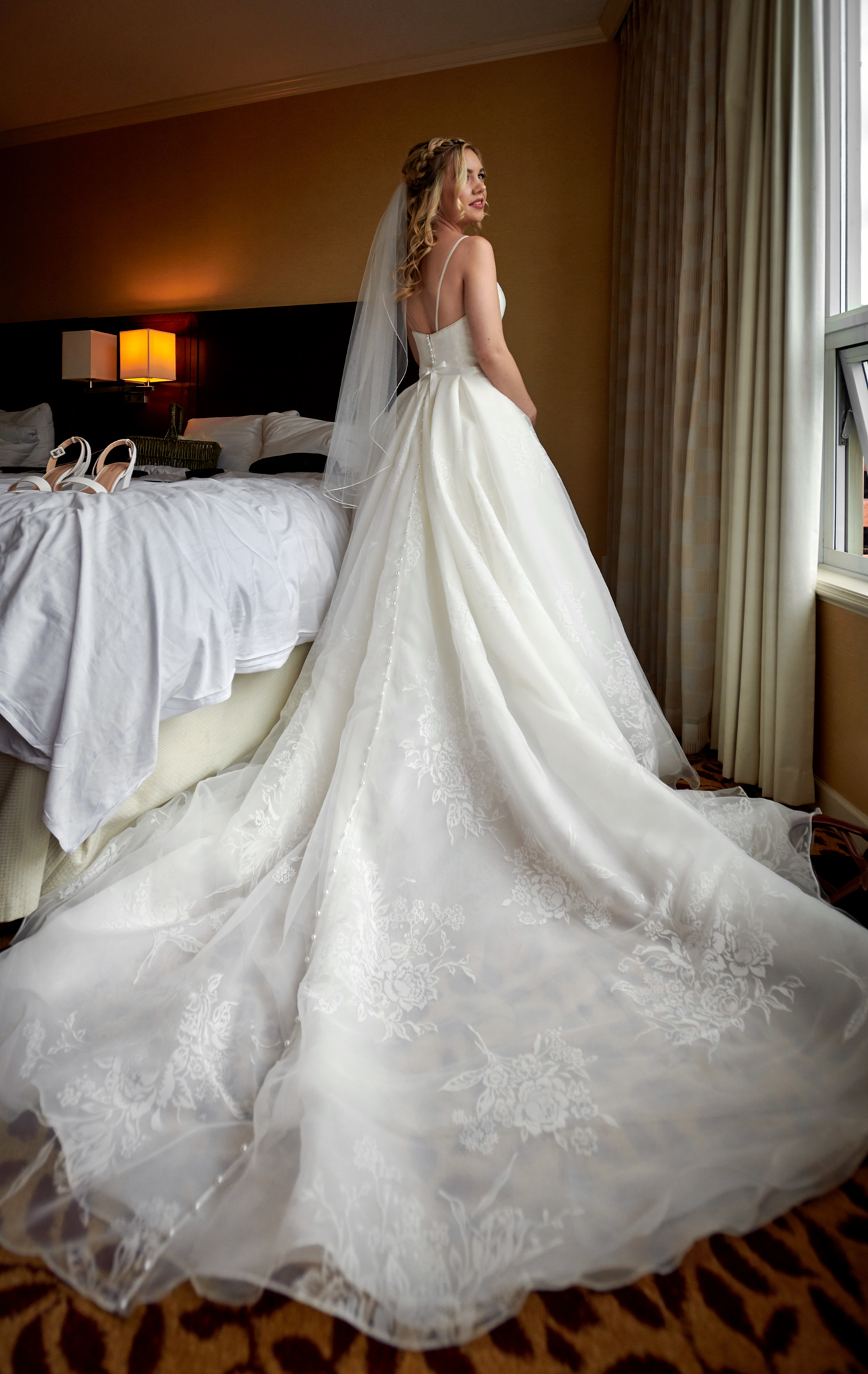 Bride portrait at Pinnacle Hotel Vancouver wedding