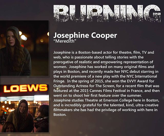 Today's post features our main actress, Josephine Cooper.