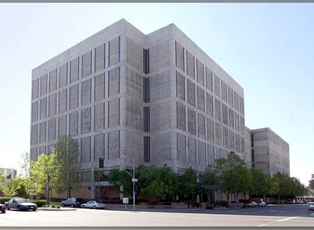 Fresno North courthouse that handles the county's domestic violence cases located at 1265 M Street.