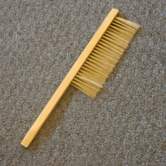 Feathery Soft bristled bee brush works perfectly to gently brush bees to clear surfaces for working and clothes. Avoid injuring bees and getting stung while working your hive!