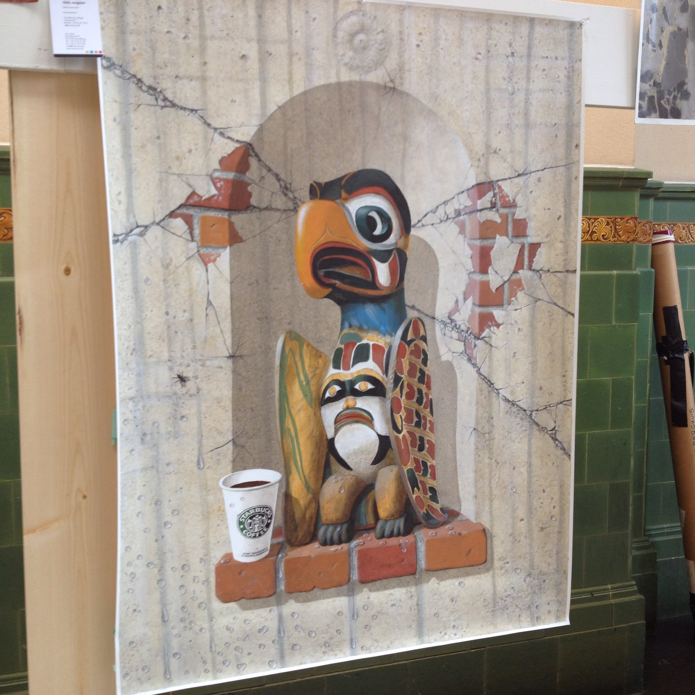 Danish artist, Jongdahl Sorenson, tackled the city of Seattle in this custom painting.