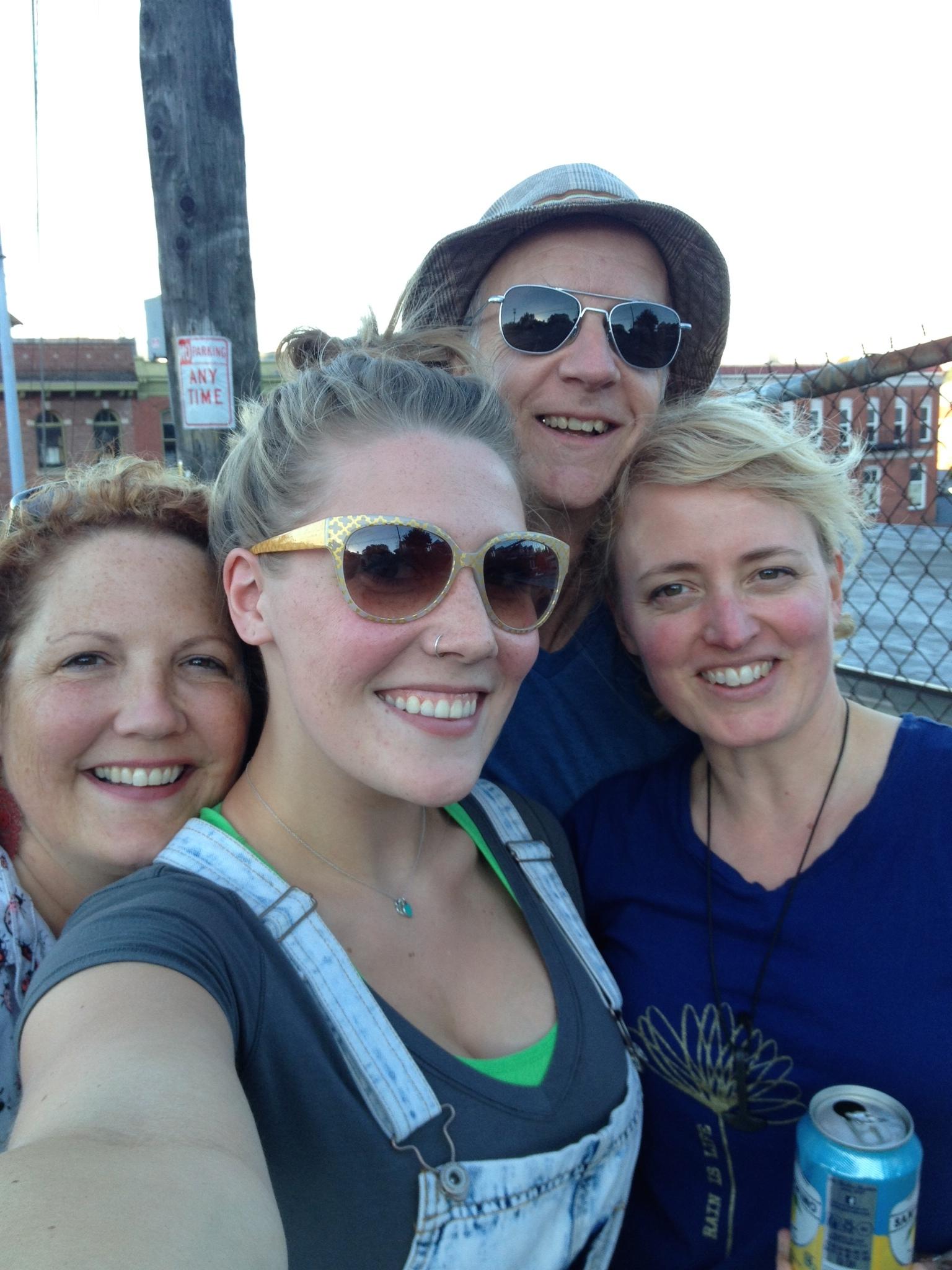 Sheila King, Ava King, Mark Bader and myself.