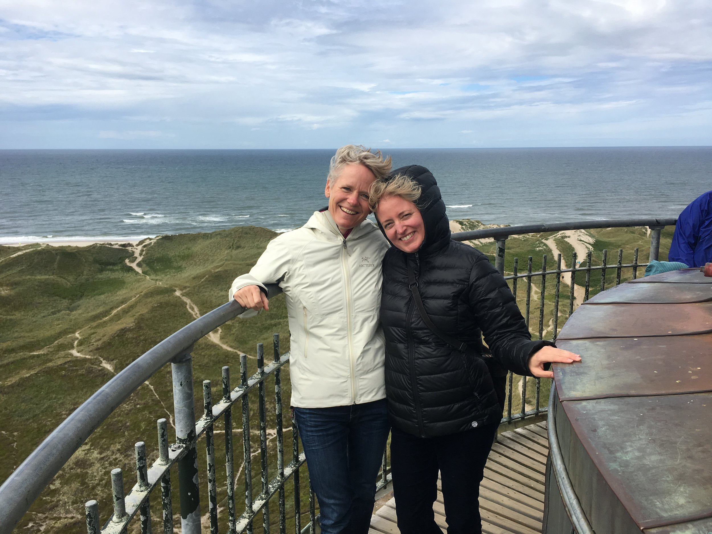 Mette and I on top of the Nørre Lyngvig (lighthouse).