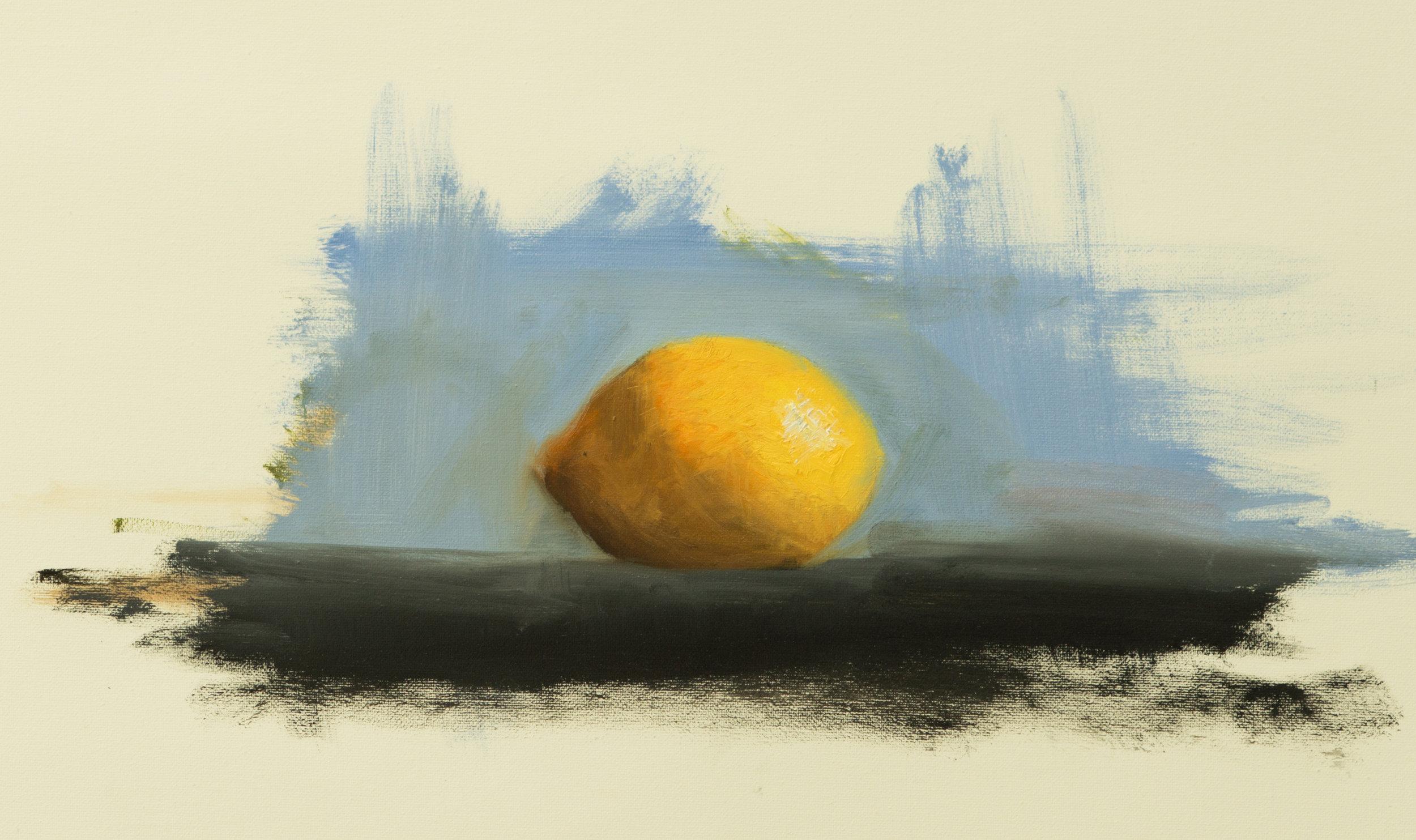 "'lemon study'  Medium: Oil on canvas Size: 11"" x 15"" / 27cm x 40cm   SOLD   studio@michaelsydneymoore.com for inquiries"