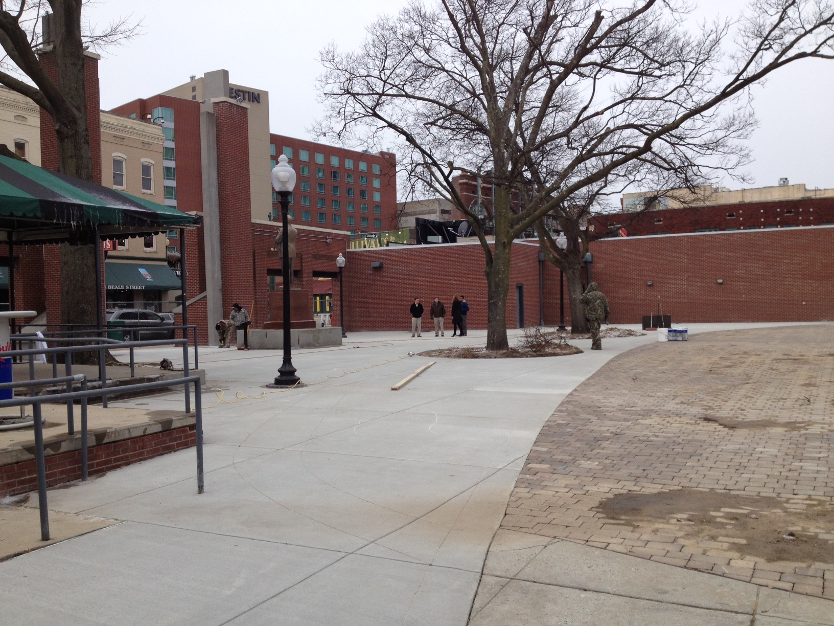 New paving and concrete paving designs give Handy Park an entirely new personality.