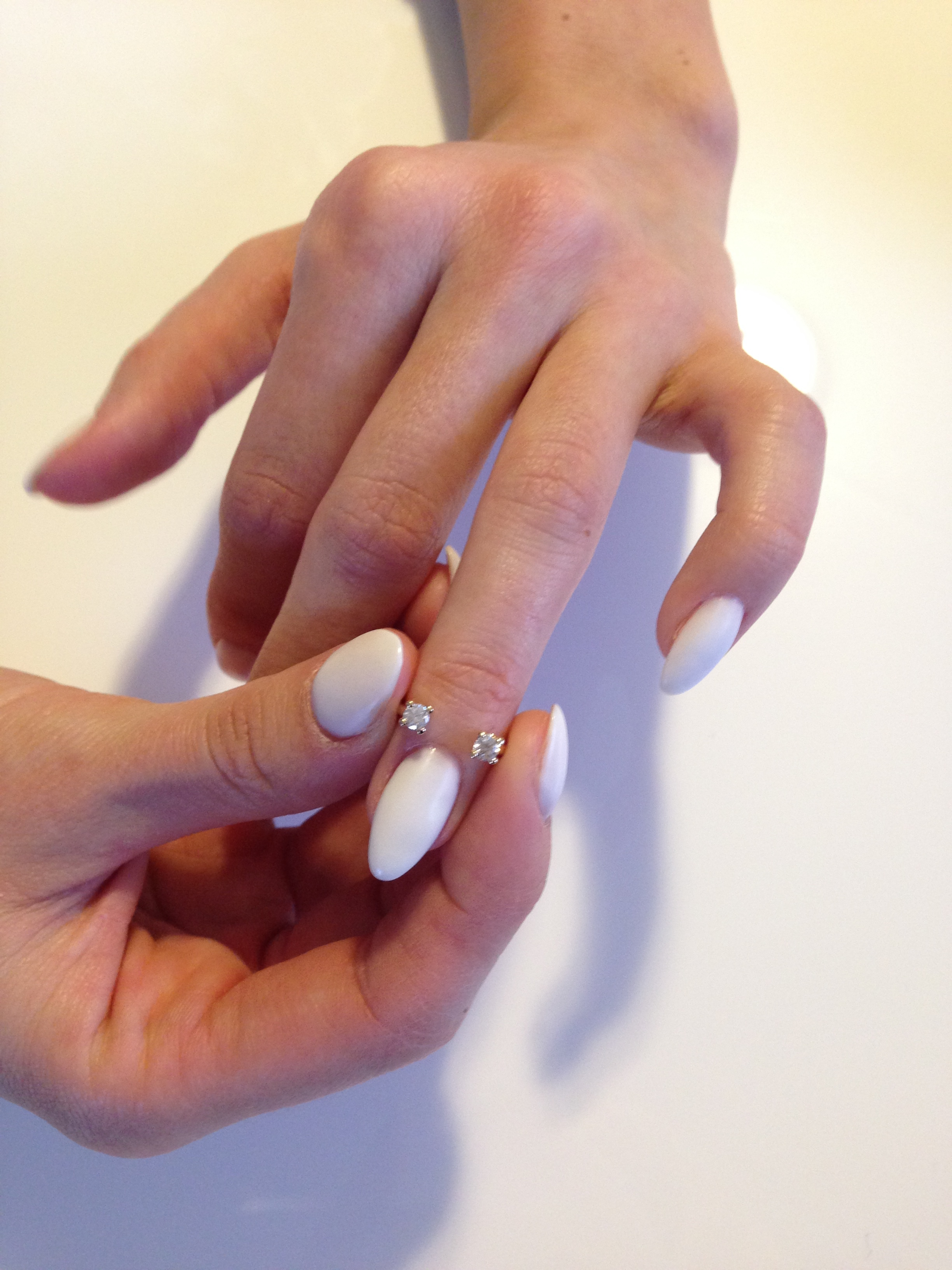 You should NOT be able to insert the ring straight into the finger