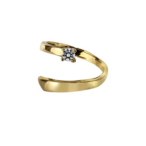 Perséïde  -  10K yellow gold   Midi Ring