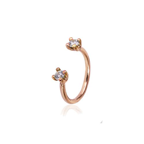 Freya  -  10K pink gold   Midi Ring