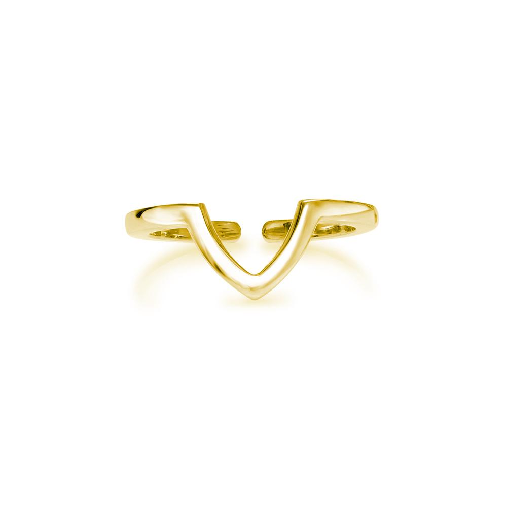 Vika  -  10K Gold  |  925 Sterling silver   Midi Ring