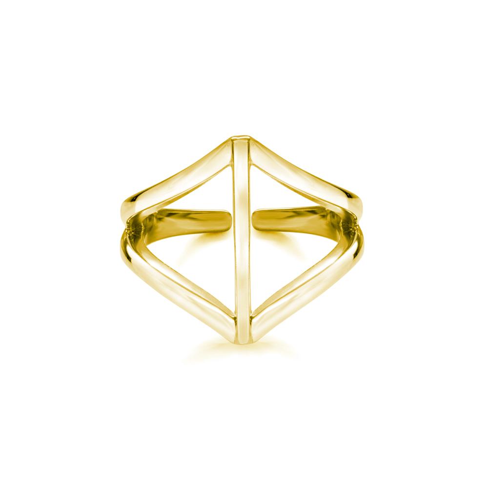 Ira  -  10K Gold  |  925 Sterling   silver   Midi Ring