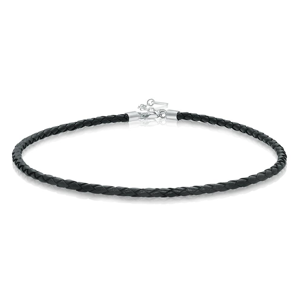 Chelsea  -  Leather & 925 Sterling silver   Choker / Bracelet