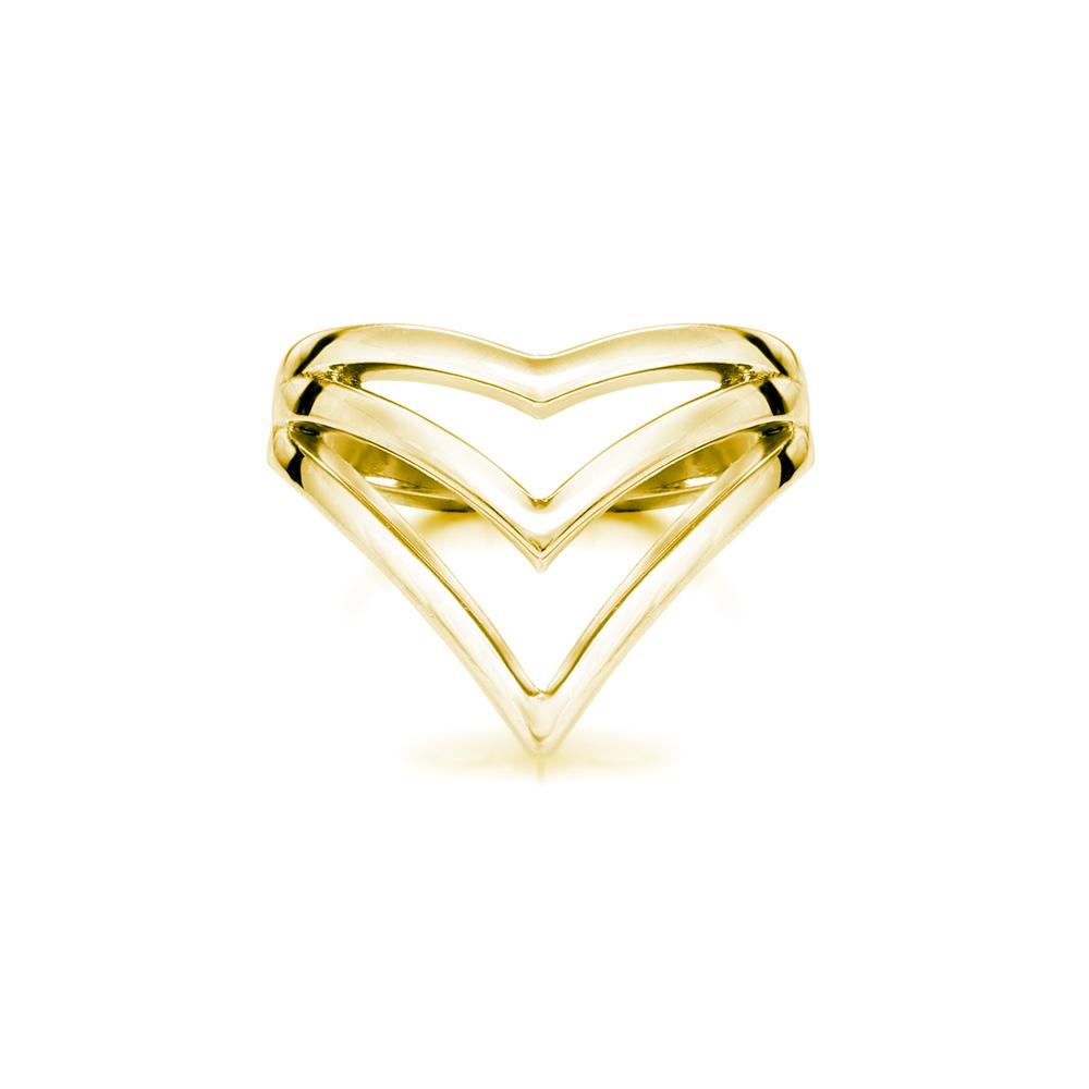 Vlada  -  10K yellow gold   Midi Ring
