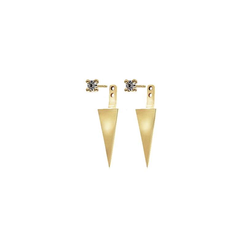 Sea + Jazz  -  10K yellow gold   Earrings & Ear Jackets Duo