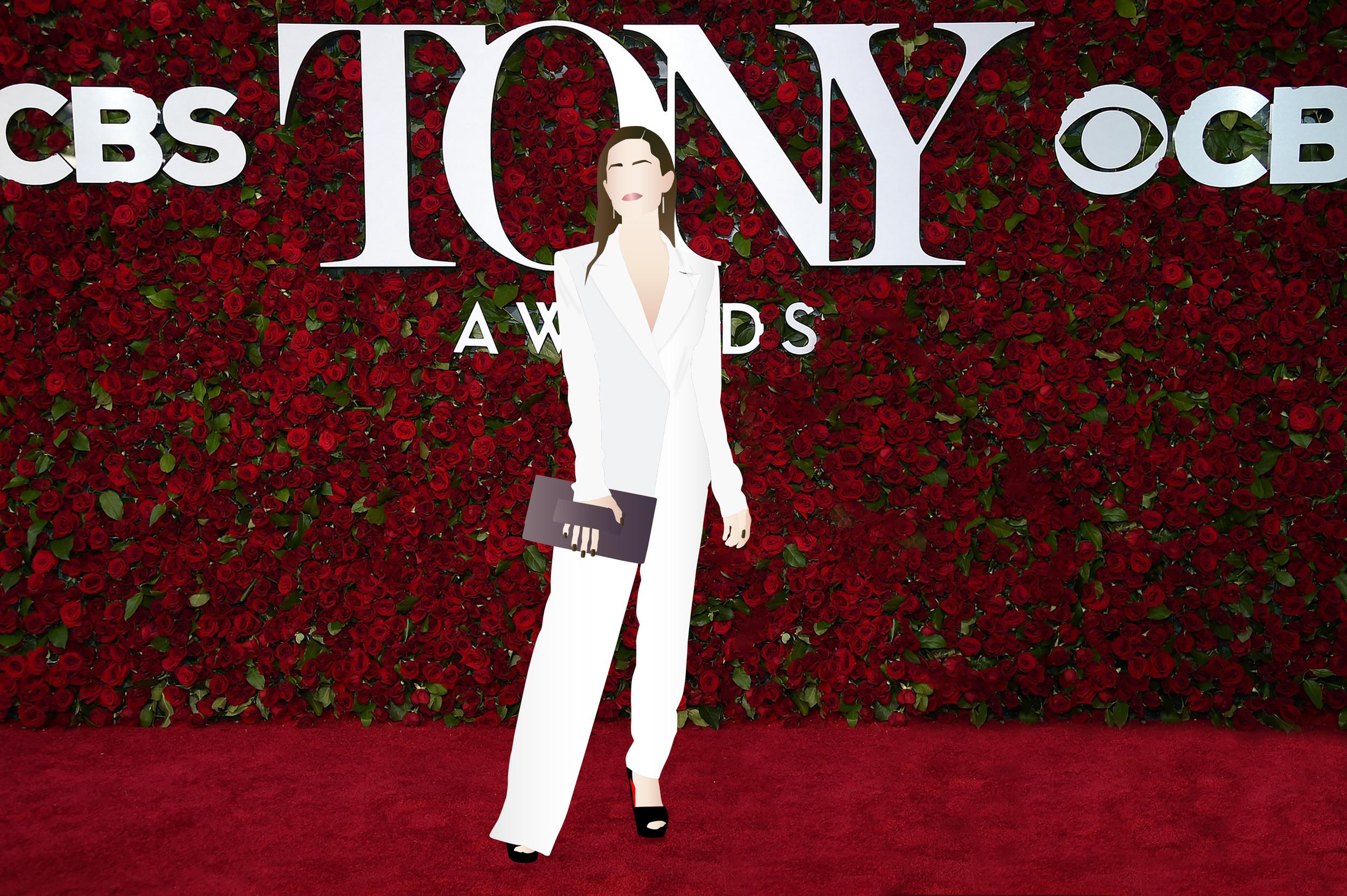 Allison Williams at the 2016 Tony Awards in DKNY. Digital Illustration