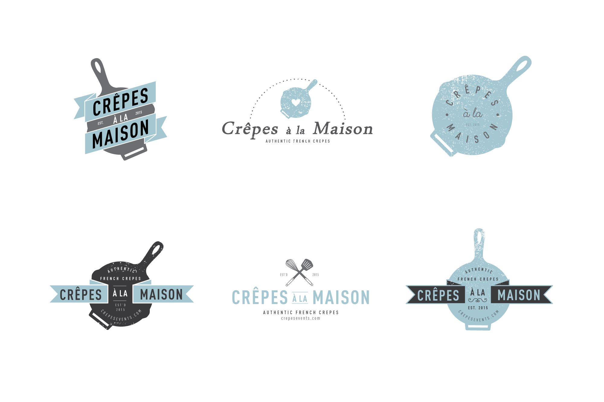 Logo Options for a French Creperie in Manhattan.