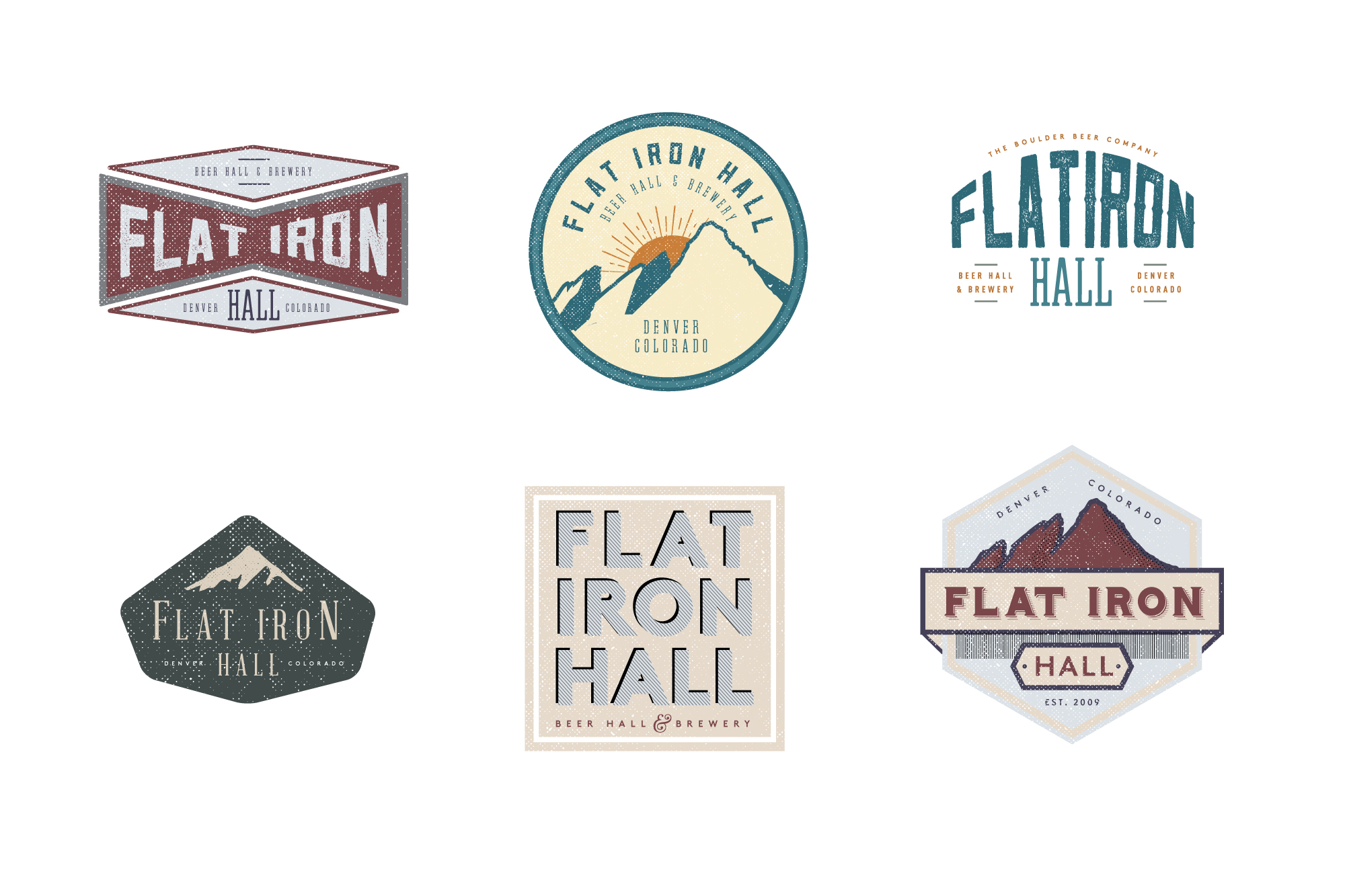 Logo options for a Beer Hall