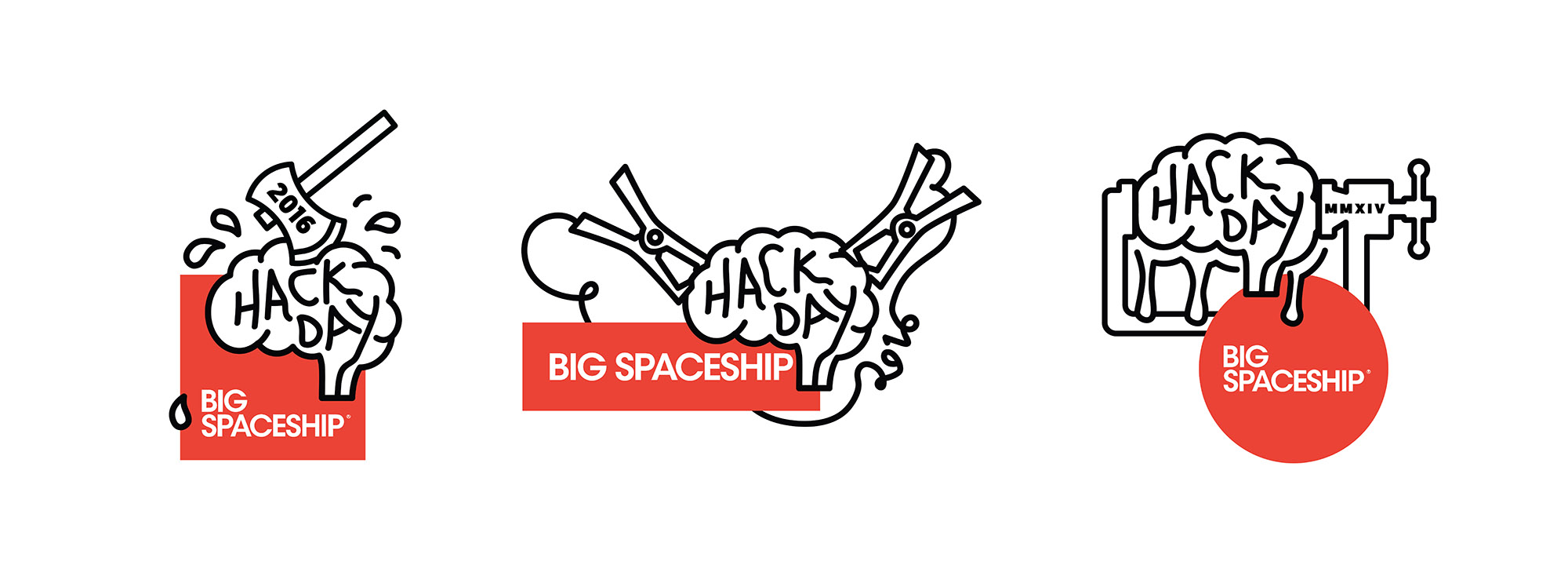 Logo Package for Big Spaceship's 2016 Hack Day