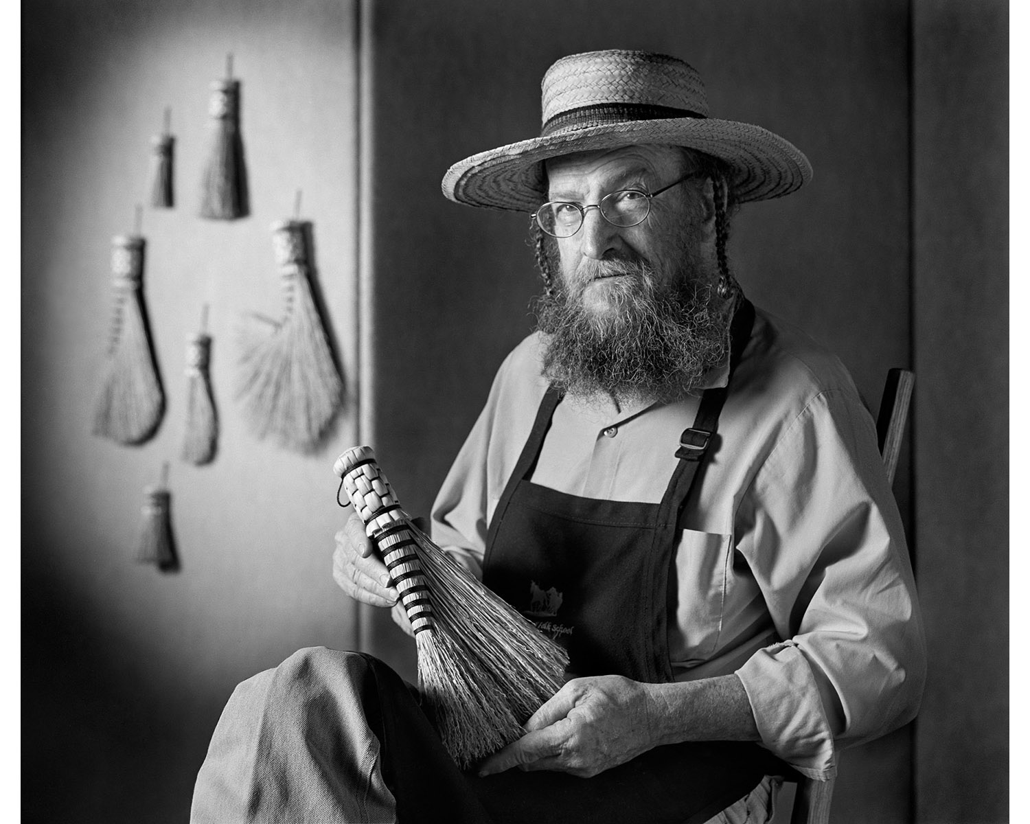 Handmade broom Carlson Tuttle Hands in Harmony Tim Barnwell