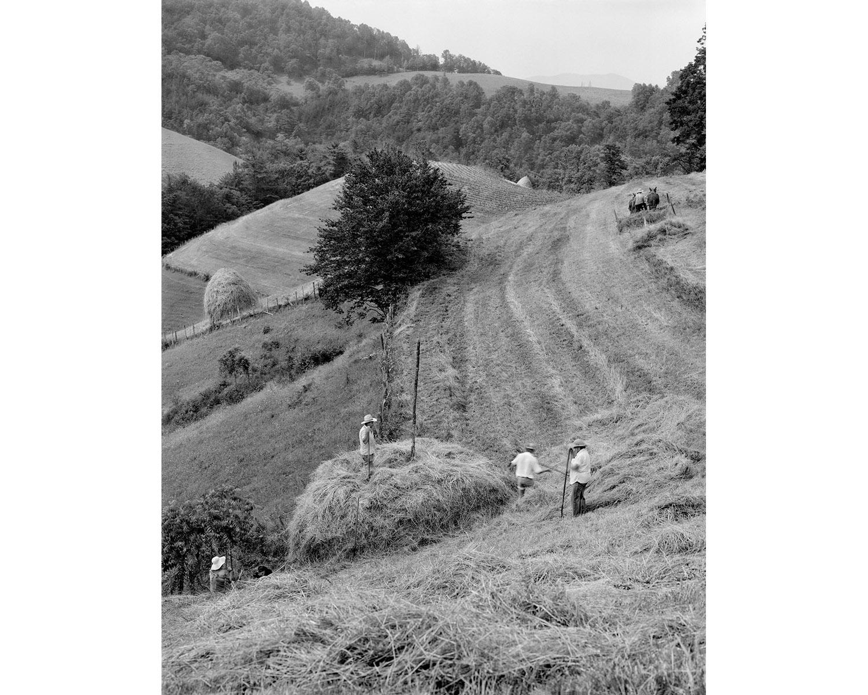 Hay stacks mountains Appalachian photographer Tim Barnwell