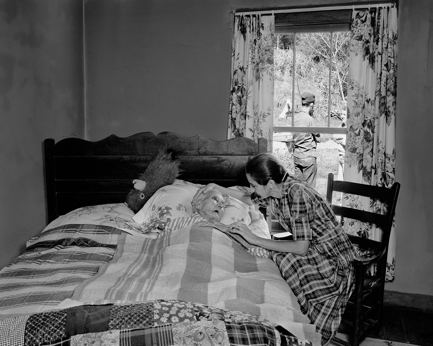 Lady on death bed Appalachian photographer Tim Barnwell The Face of Appalachia