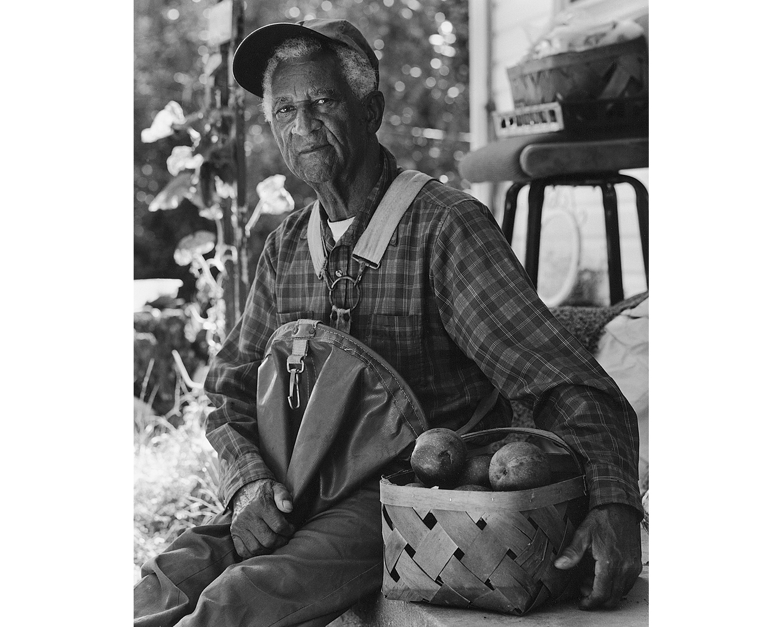 Black man apples apple picking farming Tim Barnwell Appalachian photographer