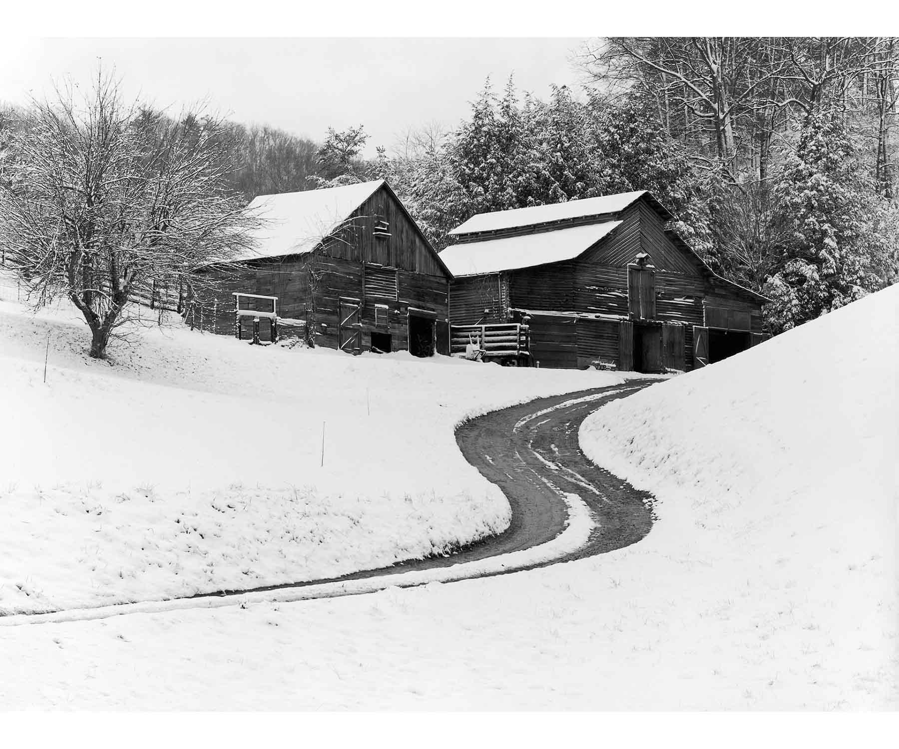 Appalachian snow barns The Face of Appalachia Tim Barnwell photography