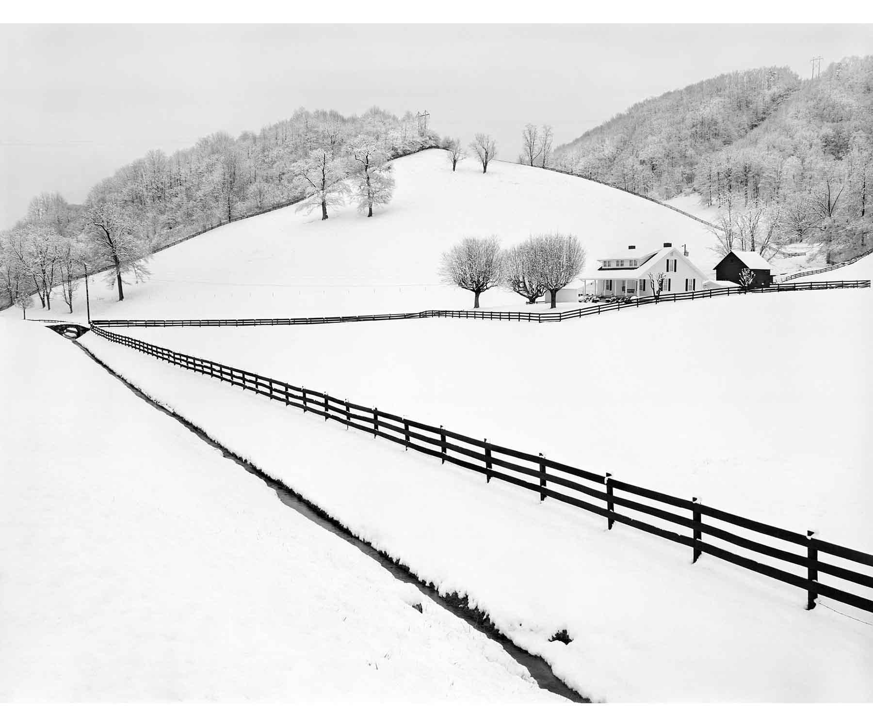 Snow fences Appalachia landscape Appalachian Tim Barnwell Photographer