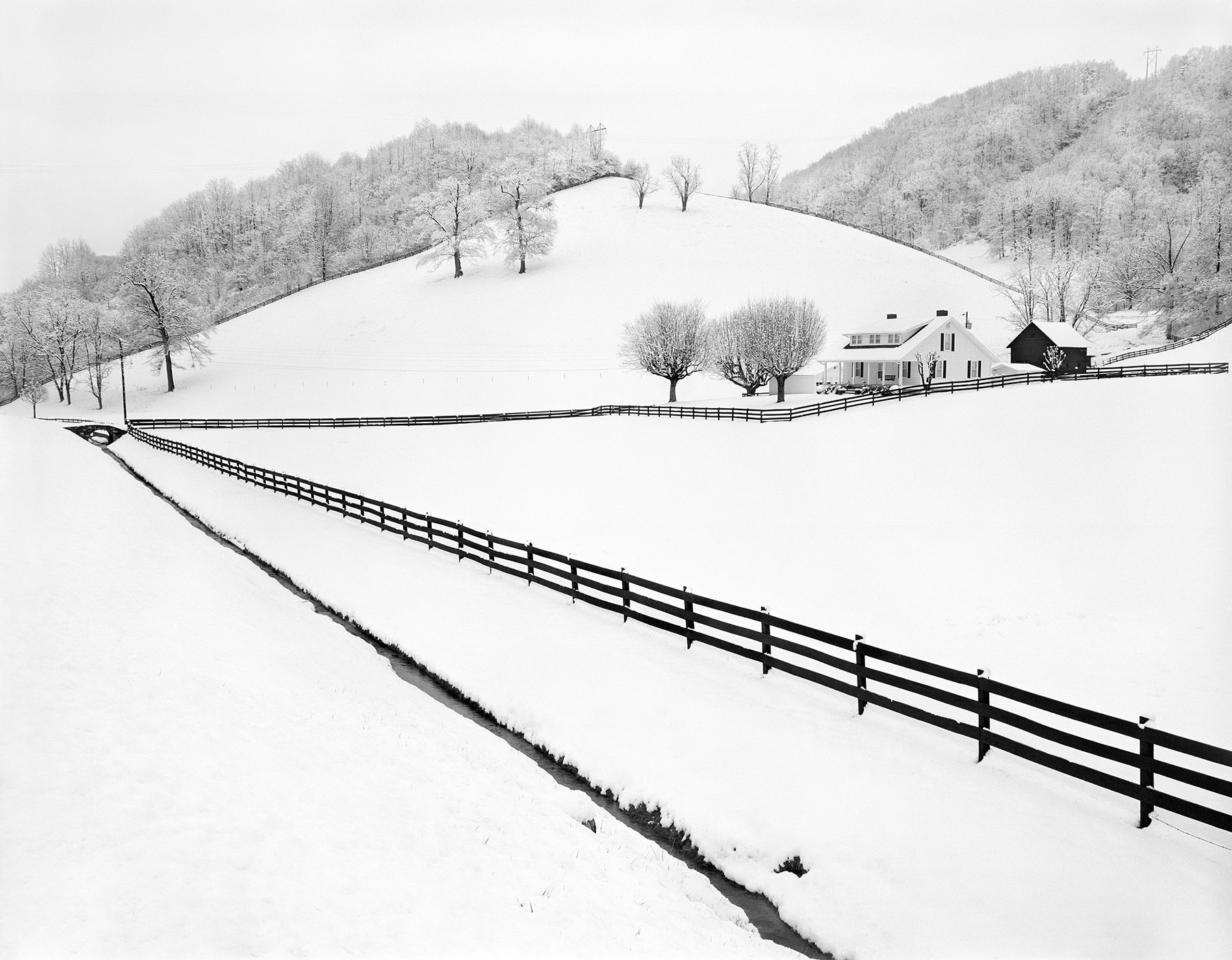 On Earth's Furrowed Brow Tim Barnwell photographer fence snow